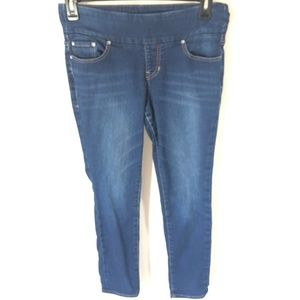 Jag High Rise Skinny Jeans Sz 8P Dark Wash Pull On